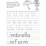 Letter U Worksheet – Tracing And Handwriting