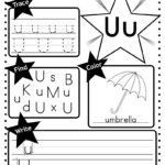 Letter U Worksheet: Tracing, Coloring, Writing & More
