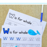 Letter W Tracing Worksheets – Mary Martha Mama