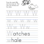 Letter W Worksheet – Tracing And Handwriting