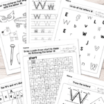 Letter W Worksheets - Alphabet Series - Easy Peasy Learners