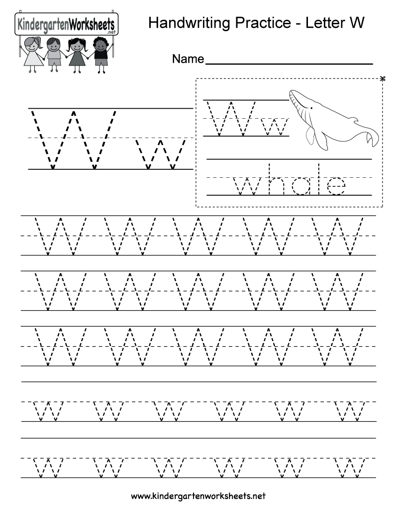 Letter W Worksheets | Alphabetworksheetsfree