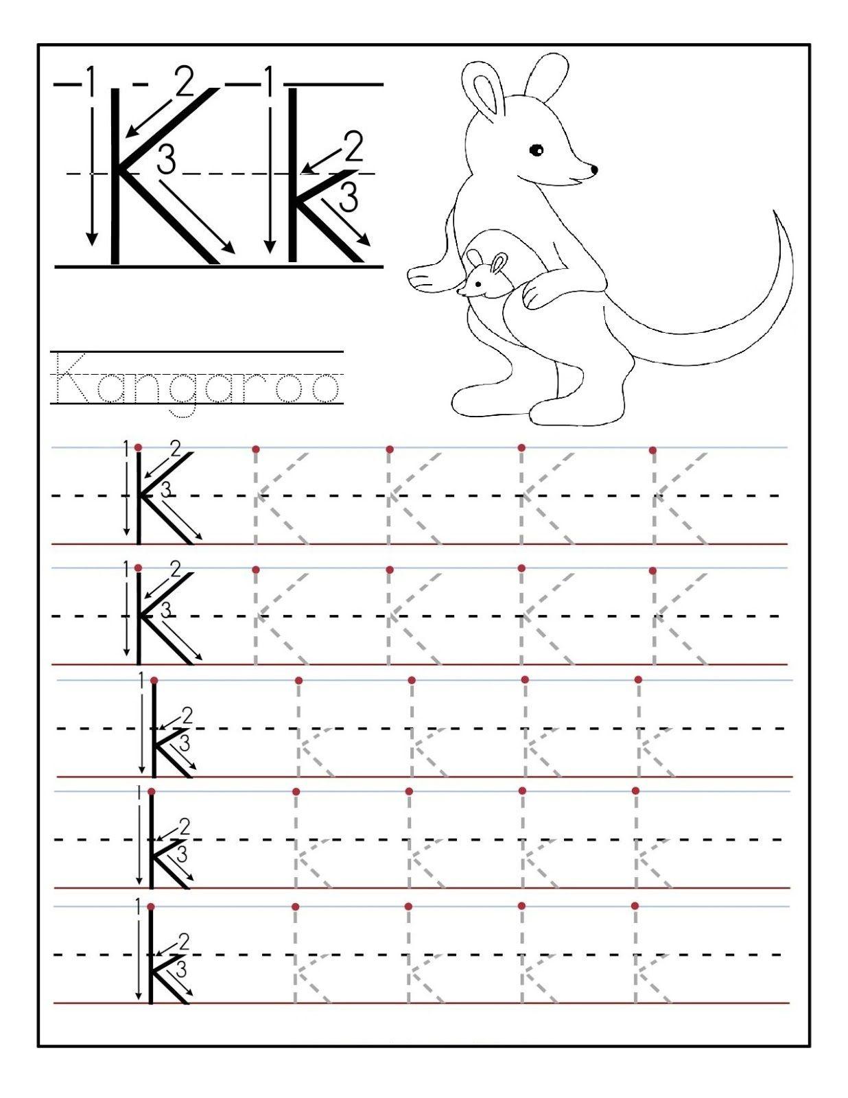 Letter Worksheets For Preschool And Kindergarten Tracing