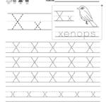Letter X Handwriting Practice Worksheet. This Series Of