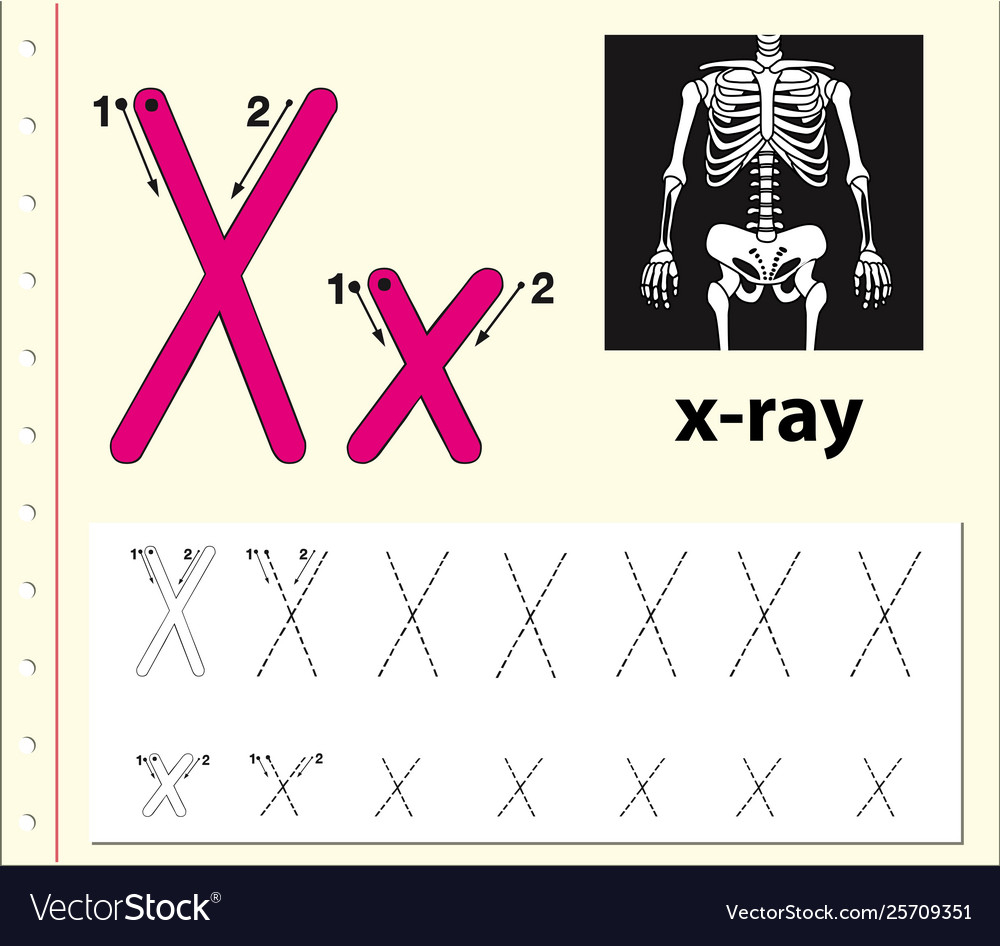 Letter X Tracing Alphabet Worksheets
