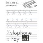 Letter X Worksheet – Tracing And Handwriting
