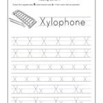 Letter X Worksheets For Kindergarten – Trace Dotted Letters