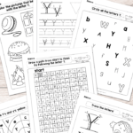 Letter Y Worksheets - Alphabet Series - Easy Peasy Learners