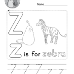 Letter Z Alphabet Activity Worksheet - Doozy Moo
