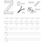 Letter Z. Learn Handwriting. — Stock Vector