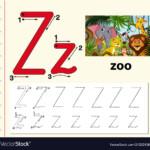 Letter Z Tracing Alphabet Worksheets