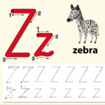 Letter Z Tracing Alphabet Worksheets - Download Free Vectors