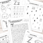 Letter Z Worksheets - Alphabet Series - Easy Peasy Learners