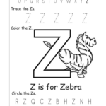 Letter Z Worksheets For Kindergarten | Activity Shelter