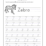 Letter Z Worksheets For Kindergarten – Trace Dotted Letters