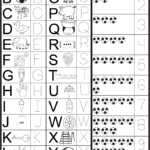 Letters & Numbers Tracing Worksheet | Atividades De
