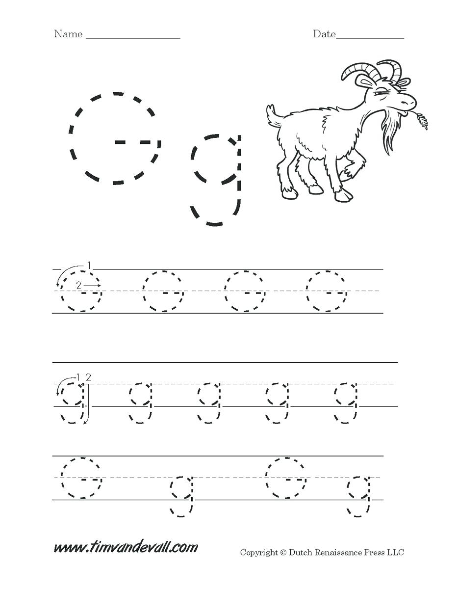 Letters Worksheets For Preschoolers Letter G Worksheets