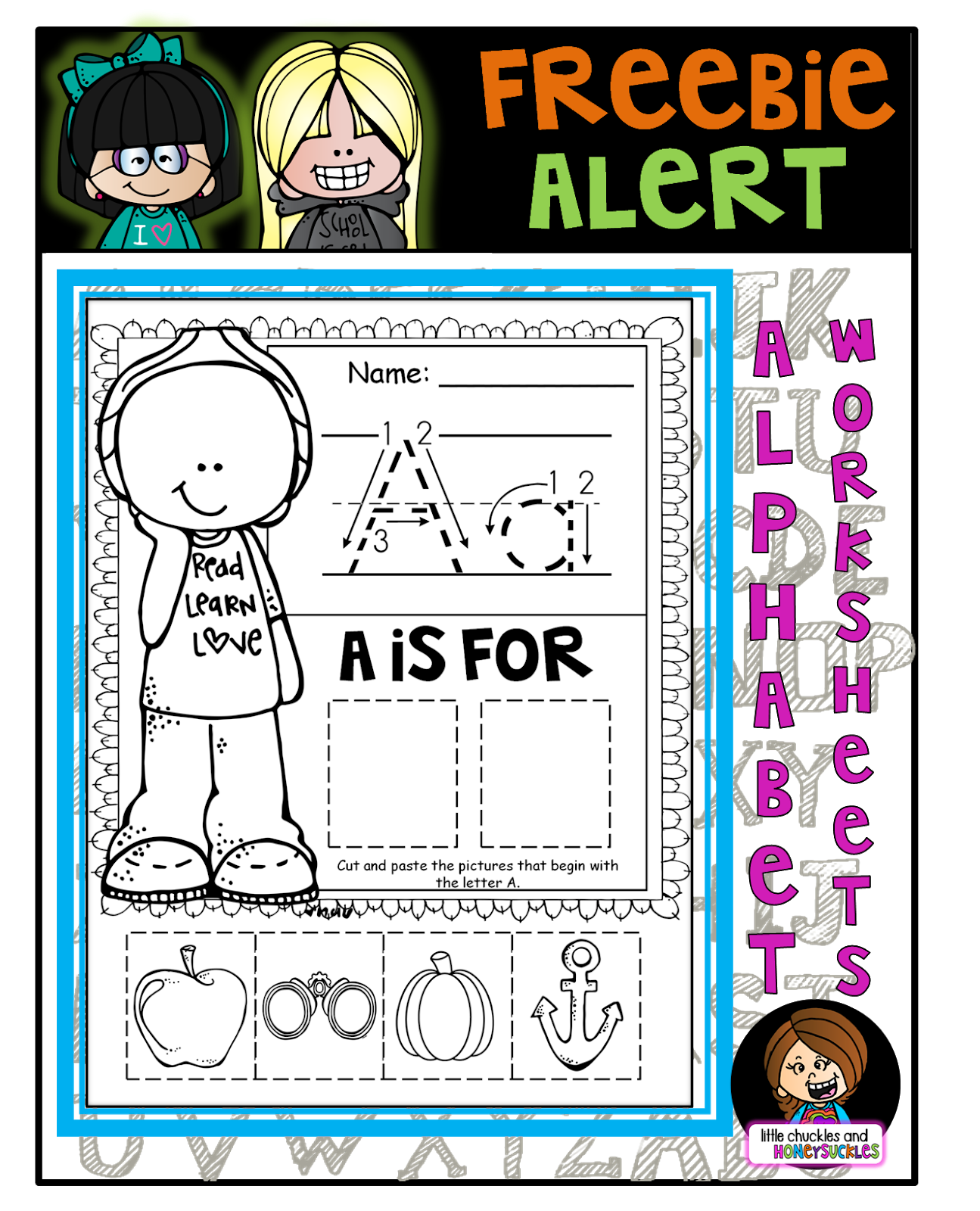 Littlechucklesandhoneysuckles: Alphabet Worksheets And A