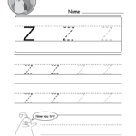 "Lowercase Letter ""z"" Tracing Worksheet - Doozy Moo"