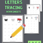 Lowercase Letters Tracing Worksheets (Set 1) | Letter
