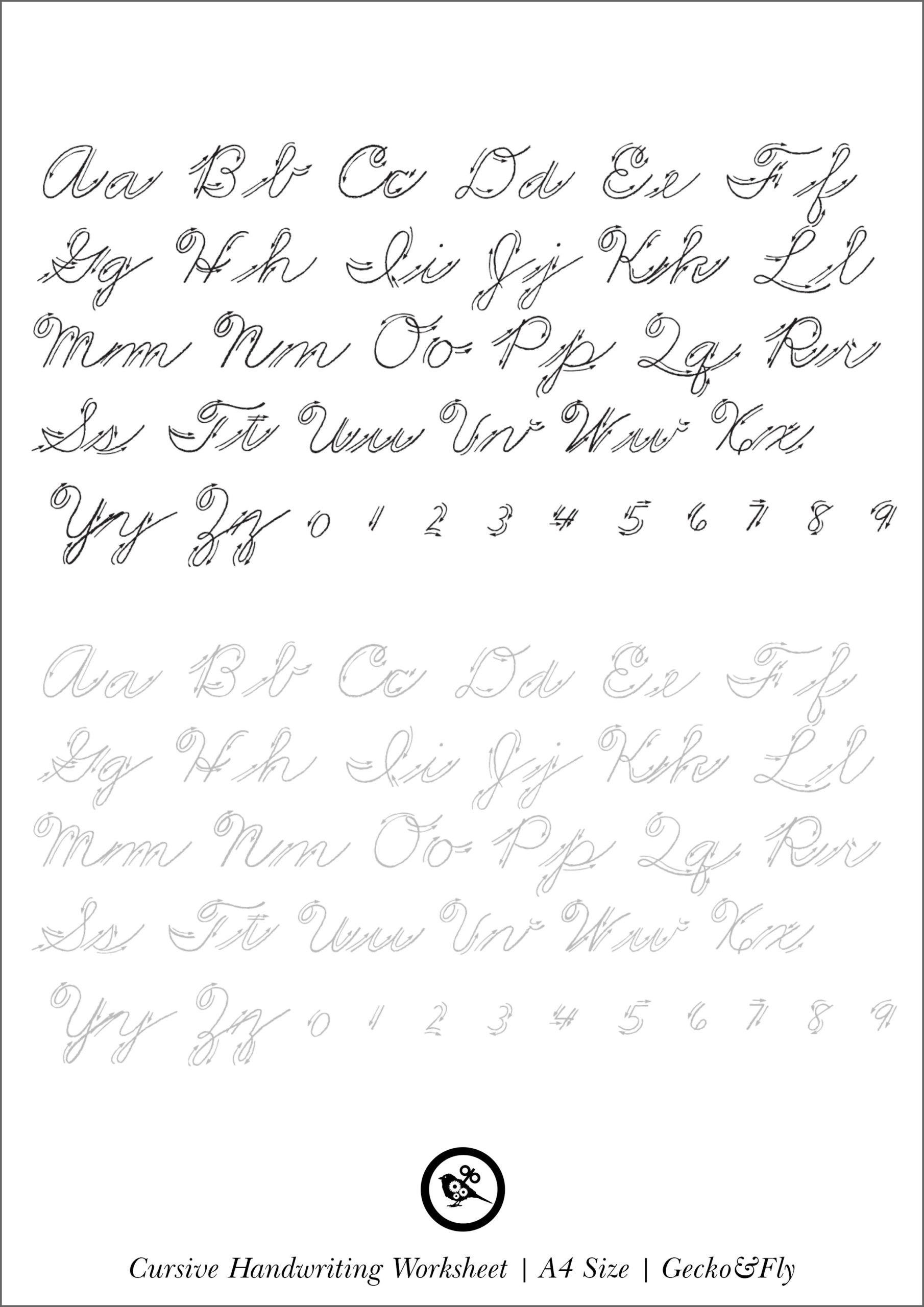 Make Your Own Cursive Handwriting Worksheets | Printable