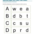 Matching Upper And Lower Case Letters Kindergarten Alphabet