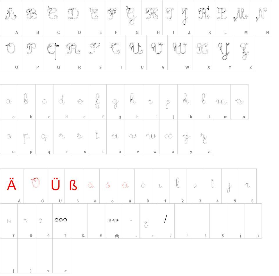 Maternellecolor Trace Cursive Free Font