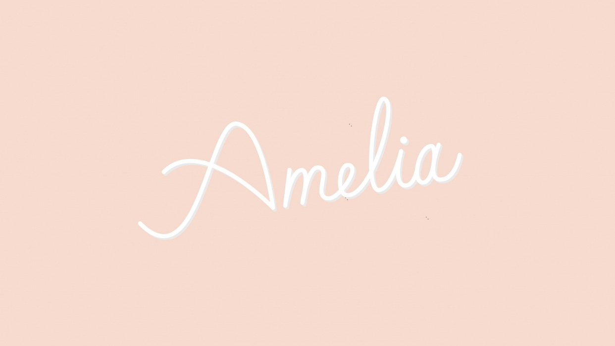 Monoline Lettering - Amelia | Skillshare Projects