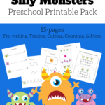 Monster Preschool Printables - Number-Tracing Worksheets Pdf