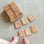 Montessori Lowercase Letter Tiles & Tray