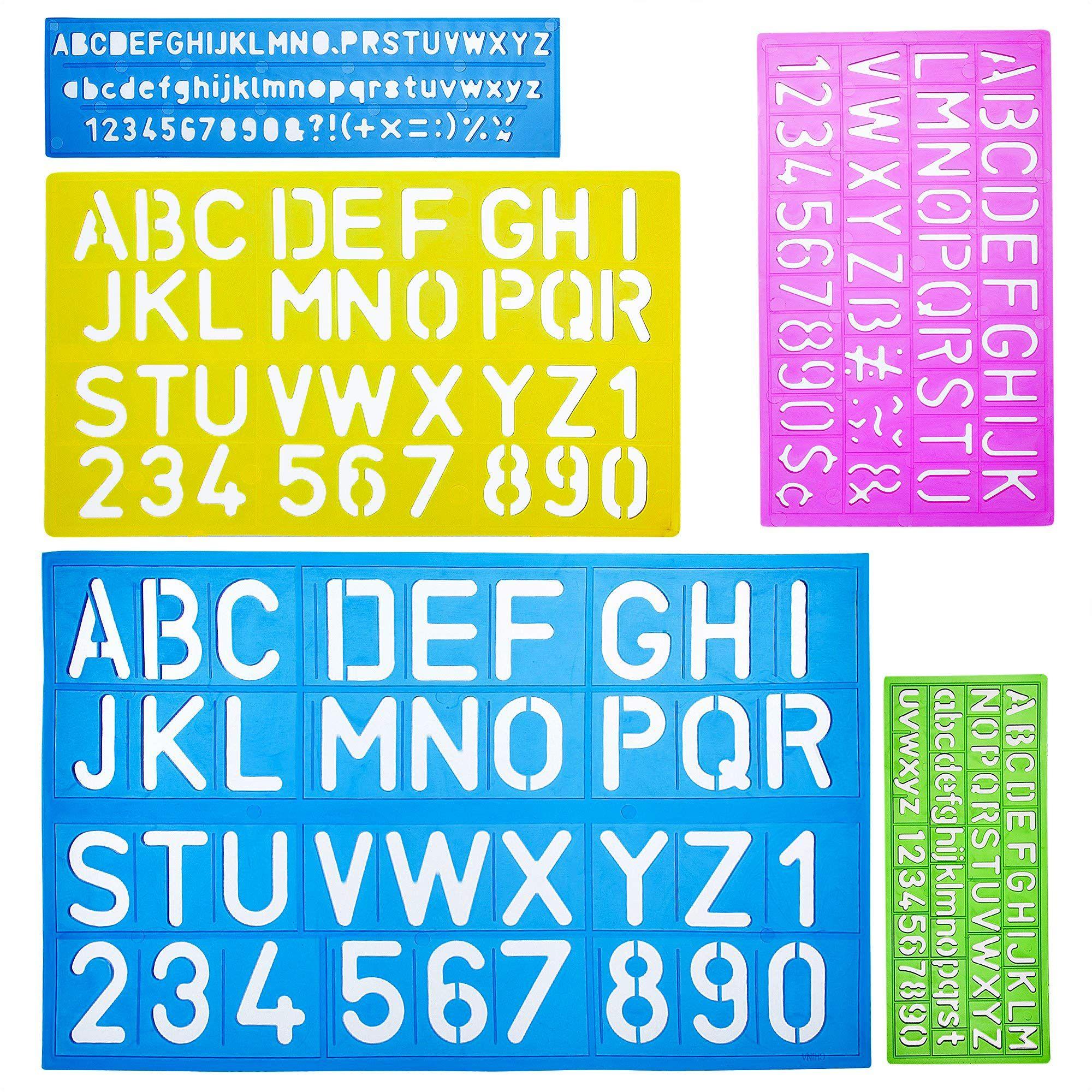 Mr. Pen- Alphabet Templates, Alphabet Stencils, Pack Of 5