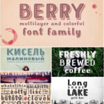 Mrs Berry Font Family With Cyrillic Typeface | Font Family