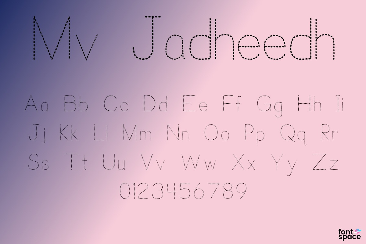 Mv Jadheedh Trace Font | Ibrahim Jadheedh Ahmed | Fontspace