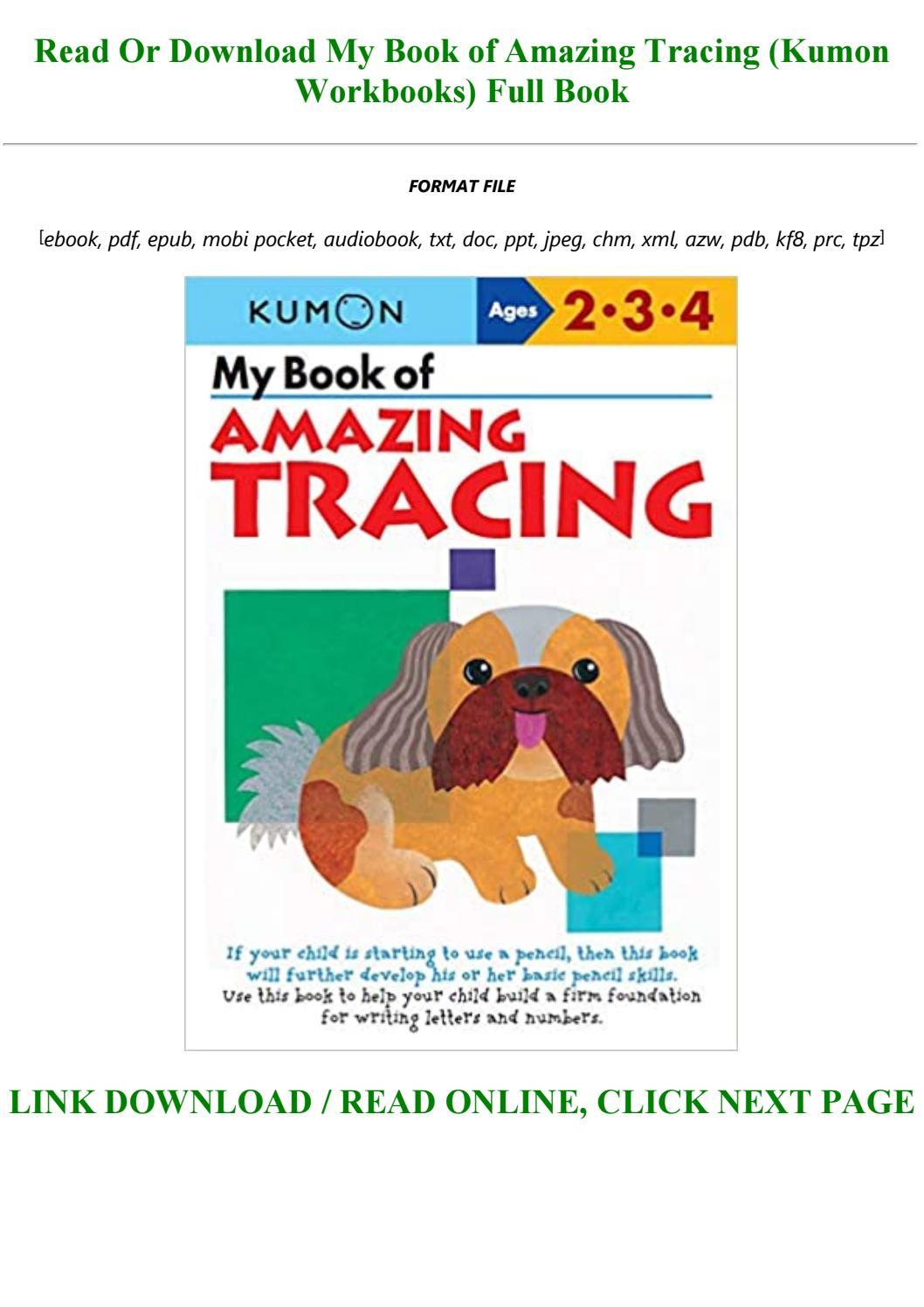 My Book Of Amazing Tracing (Kumon Workbooks)