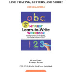 My First Learn To Write Workbook Practice For Kids With Pen