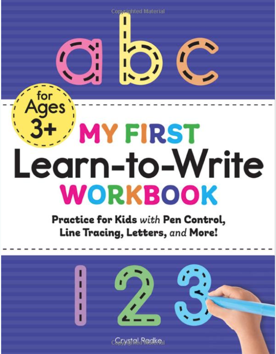 My First Learn To Write Workbook: Practice For Kids With Pen
