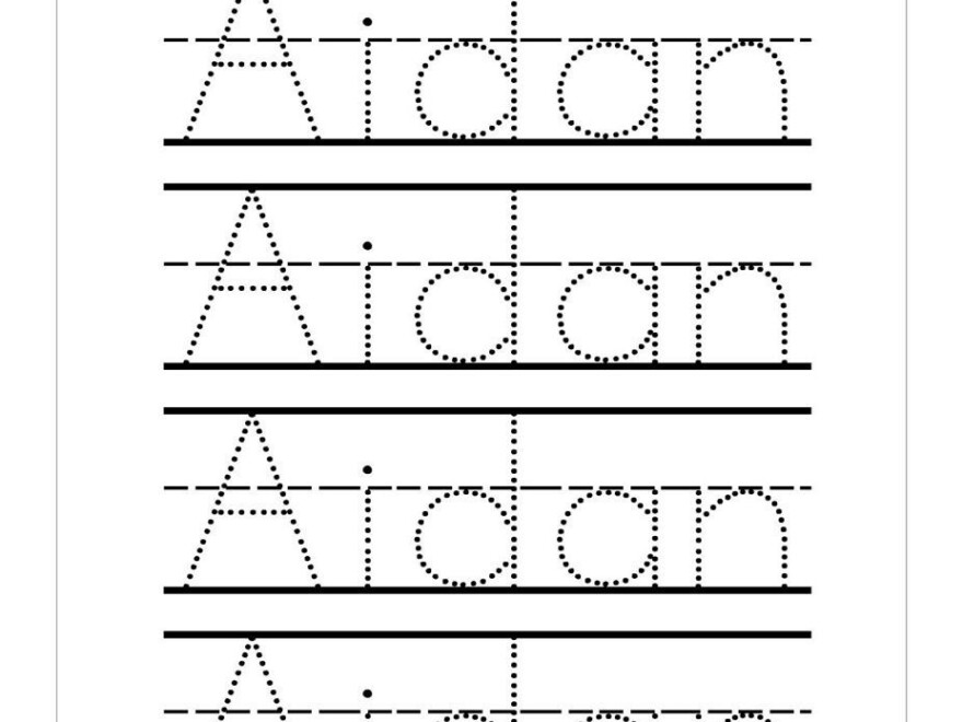 Name Handwriting Worksheets #handwritingworksheets