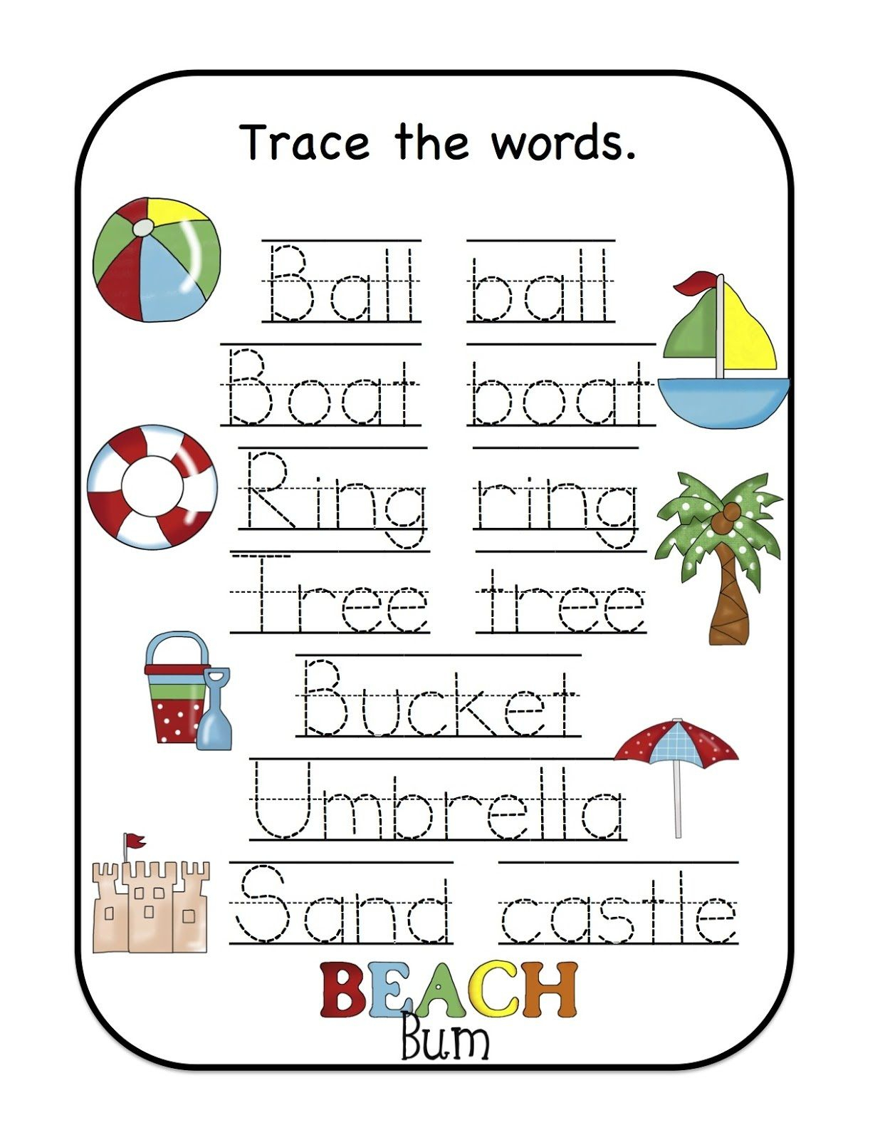 Name Trace Worksheet As Writing Devise | Worksheets For Kids
