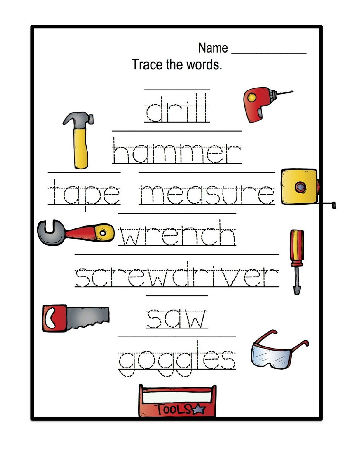 Name Trace Worksheets Easy | Name Tracing, Preschool