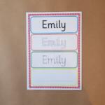 Name Tracing Card