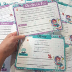 Name Tracing Sheet (Little Mermaid), Babies & Kids, Toys