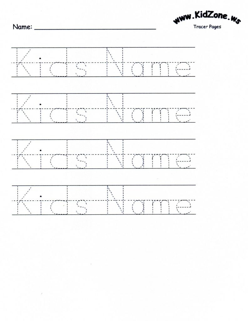 Name Tracing Worksheets For Printable. Name Tracing