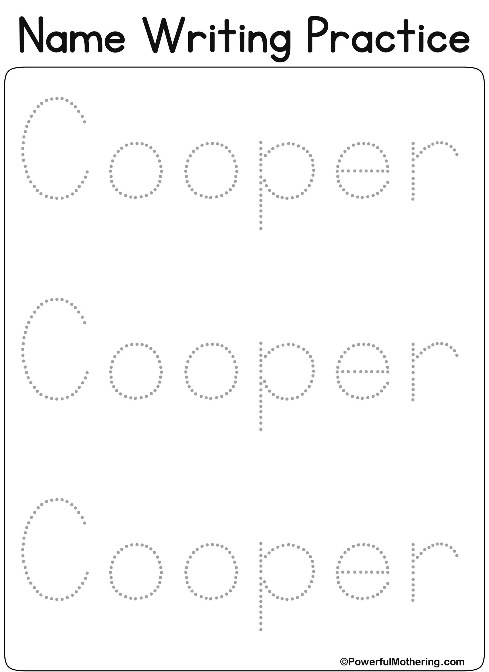 Name Tracing Worksheets To Free Download. Name Tracing