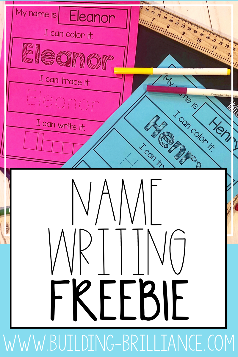 Name Writing Practice Freebie | Name Writing Practice