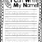 Name Writing Practice - Handwriting Freebie   Kindergarten
