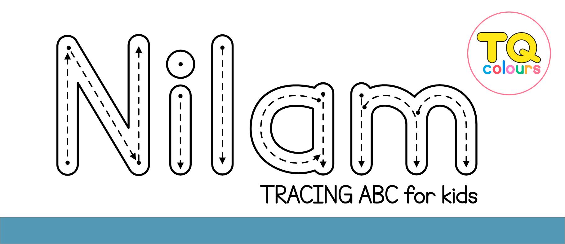 Nilam Tracing Abc Font - 1001 Free Fonts