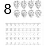 Number 8 Worksheets For Children (Görüntüler Ile