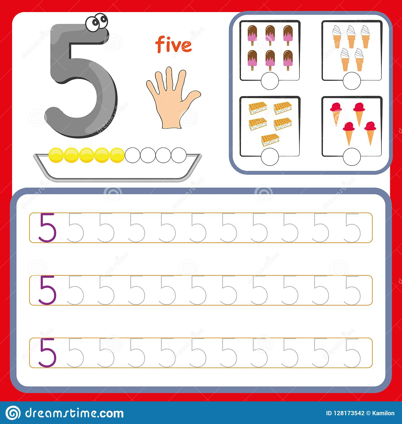 Number Cards, Counting And Writing Numbers, Learning Numbers