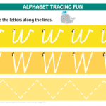 Number & Letters Tracing Mats Cursive Print