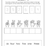 Number Names 1-7 - Interactive Worksheet